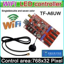 TF A6UW wi fi Cartão de Controlador De led, p10 módulo *** Single & Dual color led sinais, p10 LEVOU exibição cartão de controle convencional