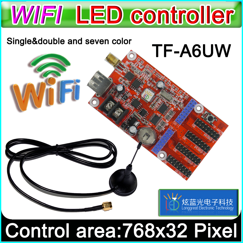 TF-A6UW Wifi Led Controller Card, P10 *** Module Single&Dual Color Led Signs,  Conventional P10 LED Display Control Card