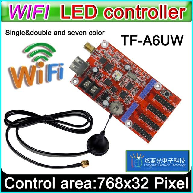 TF A6UW כרטיס wifi הוביל בקר, *** מודול p10 צבע יחיד וכפול הוביל סימנים, כרטיס בקרת תצוגת LED p10 קונבנציונלי