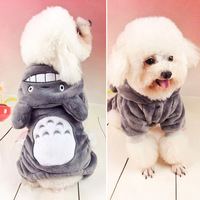 Totoro Change To Put Teddy Small Dogs Couture Pet Dog Clothes Hooded Four Feet Clothes Free