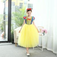 Princess costume dress snow White rapunzel dress for girls ball gown festive party girl dress Cosplay snow White elegant