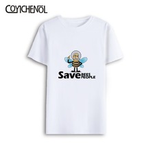 Bee Kind large size customize print tshirt men regular casual tops modal short sleeves O-neck oversized games tee