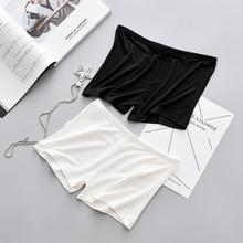 Для женщин Белый Защитные Штаны Нижняя шорты для летние нижнее бельё девочек женские нижнее бельё слипы Пант