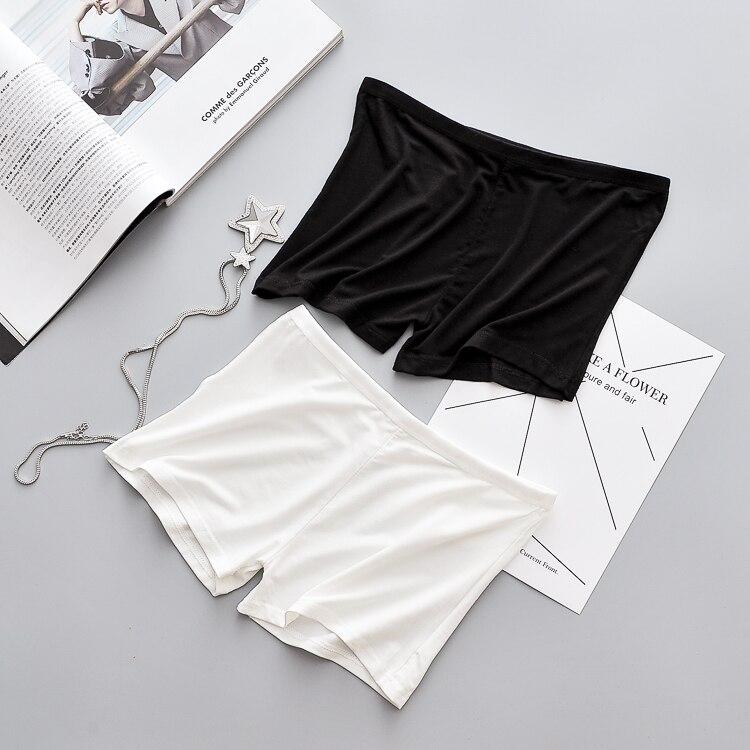 Women's White Safety Trousers Bottom Shorts for Summer Underwear Women's Intimates Slips Pant Liner Slips