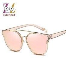 Светоотражающие поляризованных солнцезащитных очков зеркало Женщины 2018 Личность Мода ретро популярные вечерние Для женщин солнцезащитные очки