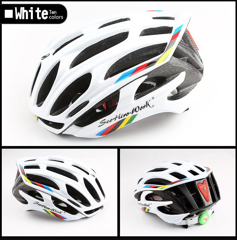 Cycling Helmet Integrally-molded Bicycle Helmet Road Mountain MTB Bike Ultra light Helmet With LED Lights Glasses Bike Equipment (3)