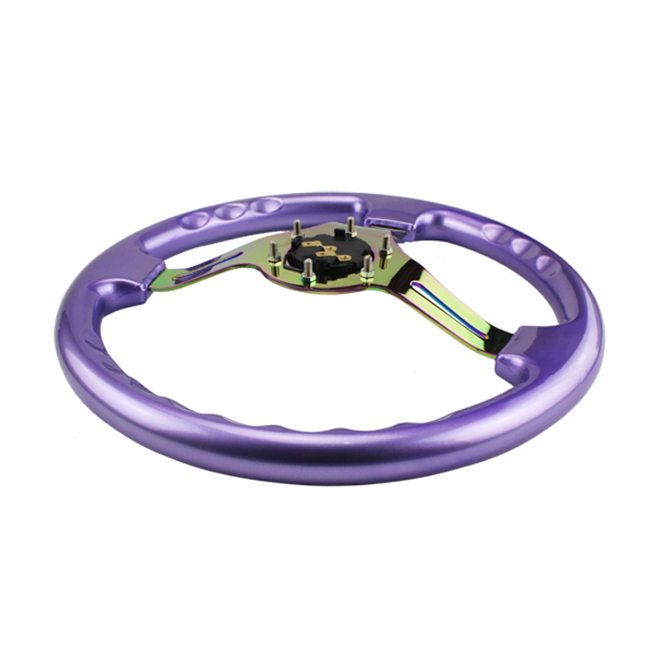 Neo Chrome New 350mm 14inch Steering Wheel ABS Steering - Suku cadang mobil - Foto 6