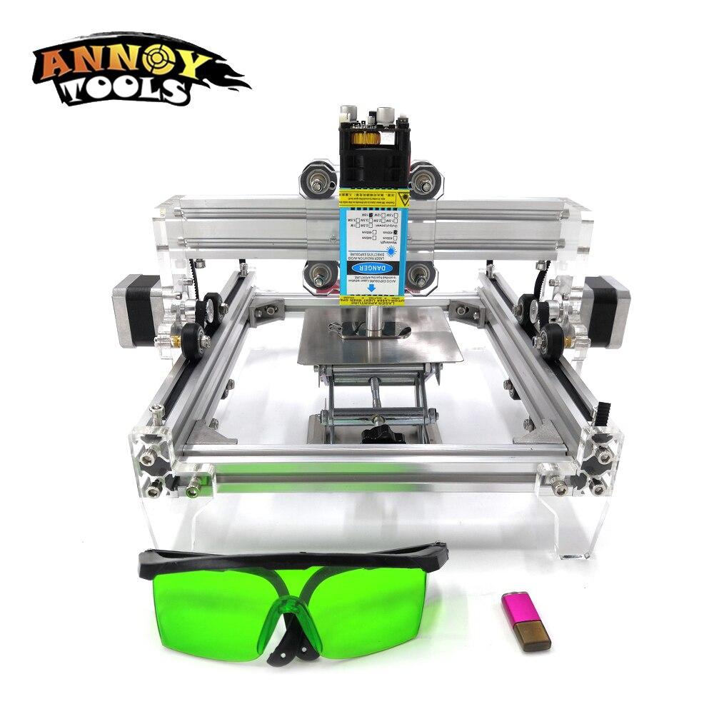 15 W L5 bricolage Machine de gravure laser, 15000 MW Métal Graver Machine de Marquage, Métal Machine de découpe, Avancée Jouets routeur de bois