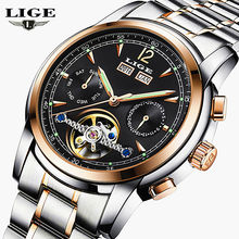 Relojes LIGE Male Automatic mechanical Sport Watch Men Luxury Brand Casual Watches Men's Wristwatch army Clock relogio masculino