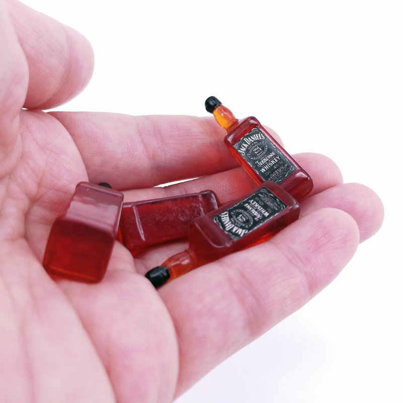Mini cuisine, jeu de poupée, jouet alimentaire, bouteilles de vin miniatures, de boisson Whisky, maison de poupée, jouet alimentaire pour poupée barbi, azone et blyth, 4 pièces, 1/6 1/12