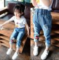 The spring and Autumn New Korean kids summer jeans