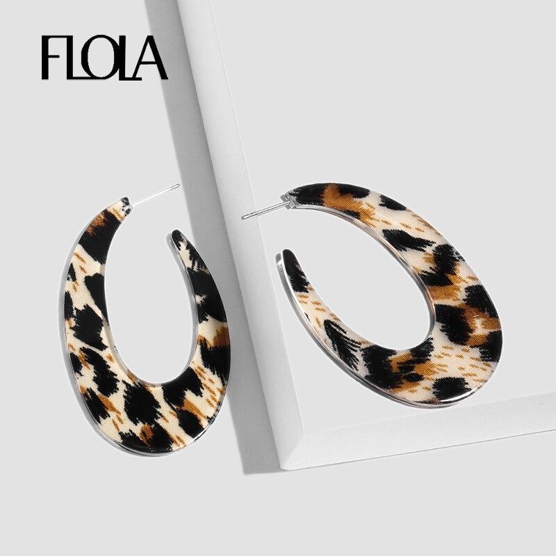 Schmuck & Zubehör Kreativ Neue Mode Einfache C Förmigen Harz Leopard Print Ohrring Für Frauen 2 Größen Alle Spiel Trendy Tropfen Ohrringe Schmuck