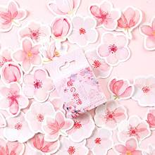 46pcs/box Japan Cherry Blossoms Planner Flower Sticker Diary Paper Decoration Kawaii Stickers Stationary Scrapbooking Journal