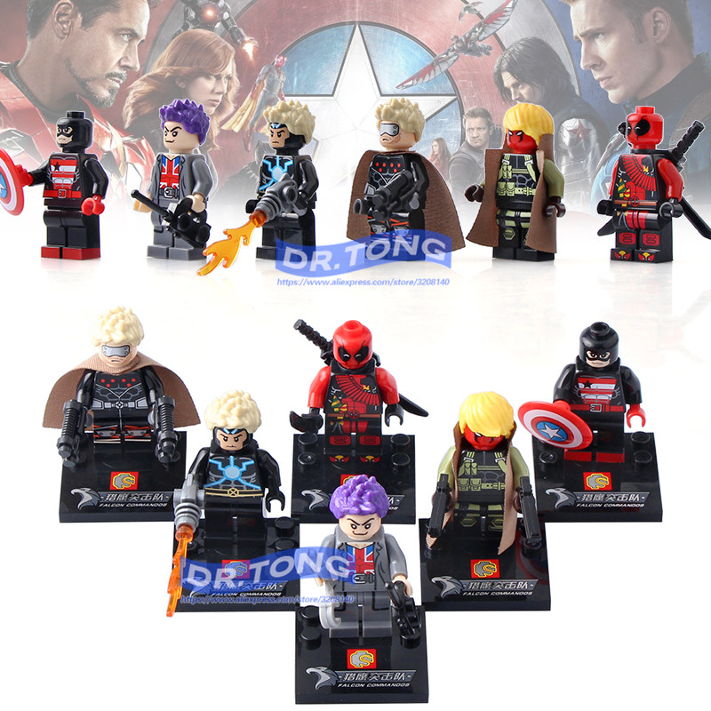 DR.TONG 60PCS/LOT SY672 Super Heroes Deadpool Spider-Man Iron Man Thor Captain America Duck Bricks Model Building Blocks DIYToy dr tong 80pcs lot sy670 super heroes deadpool spider man iron man thor duck figure building blocks bricks education action toys