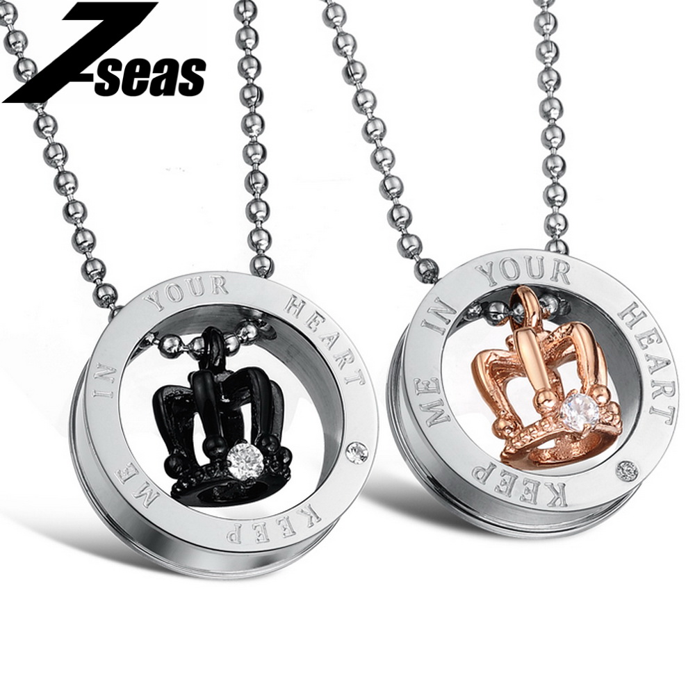 Popular Crown Couple Necklace-Buy Cheap Crown Couple Necklace lots ...