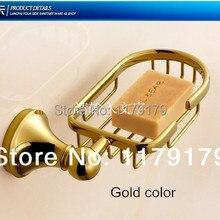 Из меди для мыла сушилка для посуды золотой цвет мыло держатель, ванная комната стойки, аксессуары для ванной комнаты 73781