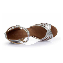Satin Latin Dance Shoes Woman Salsa Ballroom Tango Dancing Shoes Zapatos De Baile Latino Mujer Free Shipping