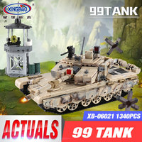 XINGBAO 06021 1340PCS Military Series The 99 Tank Set Building Blocks Bricks Tank Model Car Model Kid Toys As Christmas Gifts
