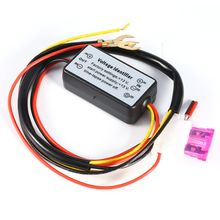DRL Controller Auto Mobil LED Siang Hari Berjalan Lampu Controller Relay Harness Dimmer On/Off 12-18 V Kabut light Controller(China)