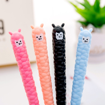 0.35mm Black Neutral pen cute alpaca gel pen Student school Pen Office signature Pen stationery supplies creative owl style gel pen animal student 0 5mm gel ink pen black pen school stationery office supplies neutral pen
