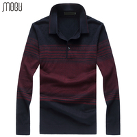 MOGU Patchwork Men's Sweater 2017 Autumn New Turn down Collar Pullover Male Slim Fit Wool Sweater Men Asian Size 8XL Men Sweater