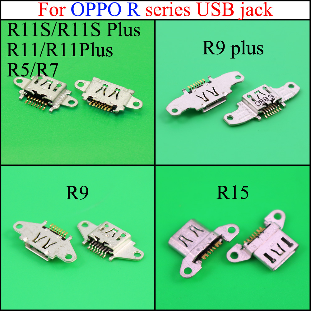 YuXi Hot Sale Charging Connector Micro Usb Jack For OPPO  R11S R11S PLUS R9 R15 R9PLUS  R5 R7  R11 R11PLUS