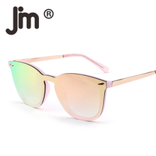 JM Free Fast Shipping Wholesale 50pcs/Lot Rimless Square One Piece Mirrored Lens Retro Frameless Sunglasses Women Men