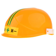 Yellow Construction Plastic Hard Hat Safety Cap Helmet for Child & Boys Costume Halloween Party Favor Builder Role Playing Toys(China)
