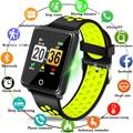 BANGWEI nuevo deporte pulsera reloj resistente al agua de la presión arterial Monitor de ritmo cardíaco podómetro pulsera inteligente para Android ios