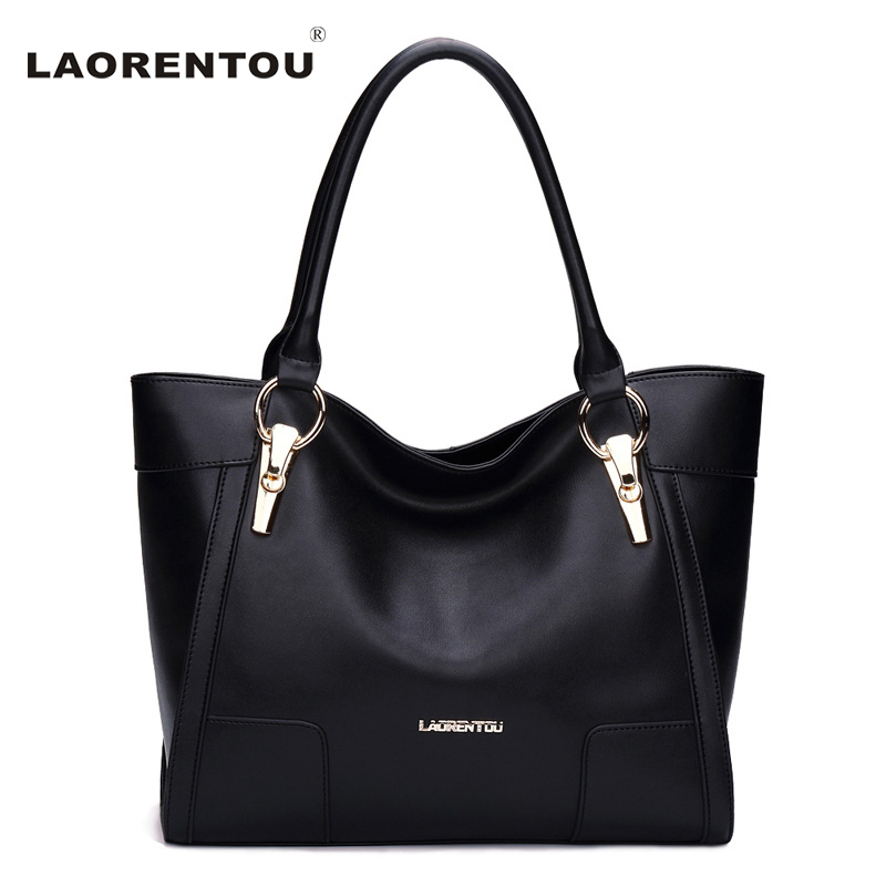 LAORENTOU Cowhide Leather Women Handbag Brand Fashion Larger Capacity Women Leather Bag Luxury Totes Designer Lady Hand Bags luxury genuine leather bag fashion brand designer women handbag cowhide leather shoulder composite bag casual totes