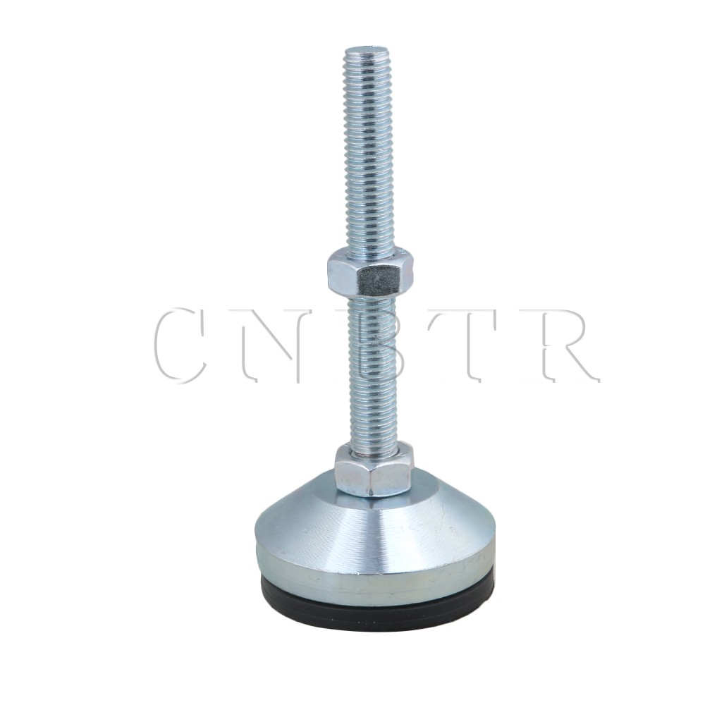 CNBTR 1pcs 60mm Dia Carbon Steel Adjustable Anti-Slip Screw Table Feet M12 Thread ...