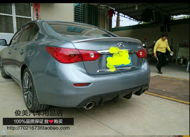 For Infiniti Q50 Q50L 2014 2015 2016 ABS Plastic Material Rear Wing  Unpainted Primer Color Rear Trunk Spoiler Car Accessories