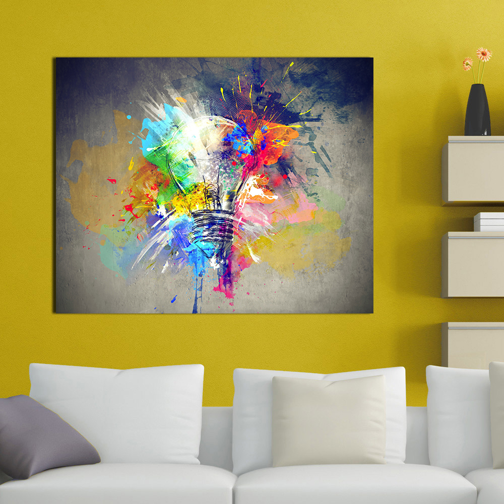 Aliexpress.com : Buy Best Wall Art Pictures Canvas Light Colorful ...