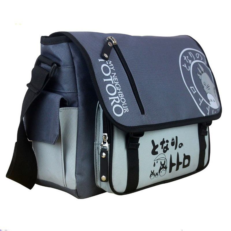 Naruto / Tokyo Ghoul/One Piece/Attack on Titan/My Neighbor Totoro Messenger School Bag Sling Satchel anime single shoulder bags anime cartoon tokyo ghoul cosplay backpack schoolbag one piece gintama school bag rucksack men s women s naruto travel bag