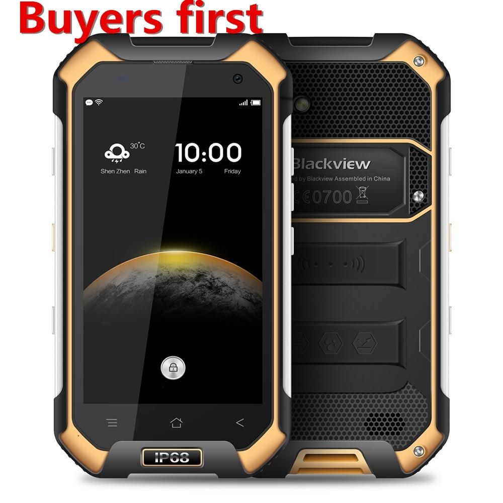 Blackview BV6000 Smartphone 4.7 MT6755 Octa Core 4g Étanche IP68 mobile téléphone Android 6.0 3 gb RAM 32 gb ROM 13MP Cellulaire Téléphone