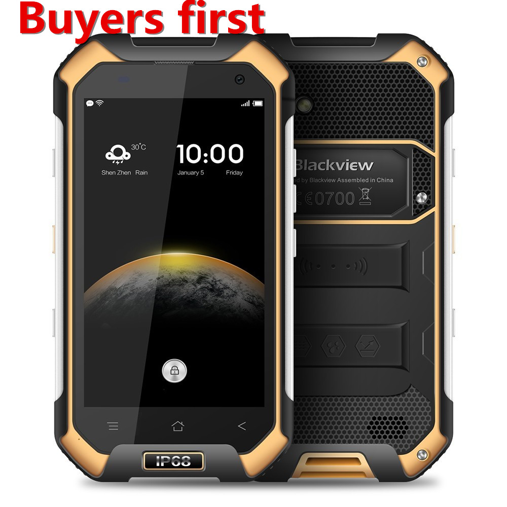 Blackview BV6000 Smartphone 4.7 MT6755 Octa Core 4G Waterproof IP68 mobile phone Android 6.0 3GB RAM 32GB ROM 13MP Cell Phone image