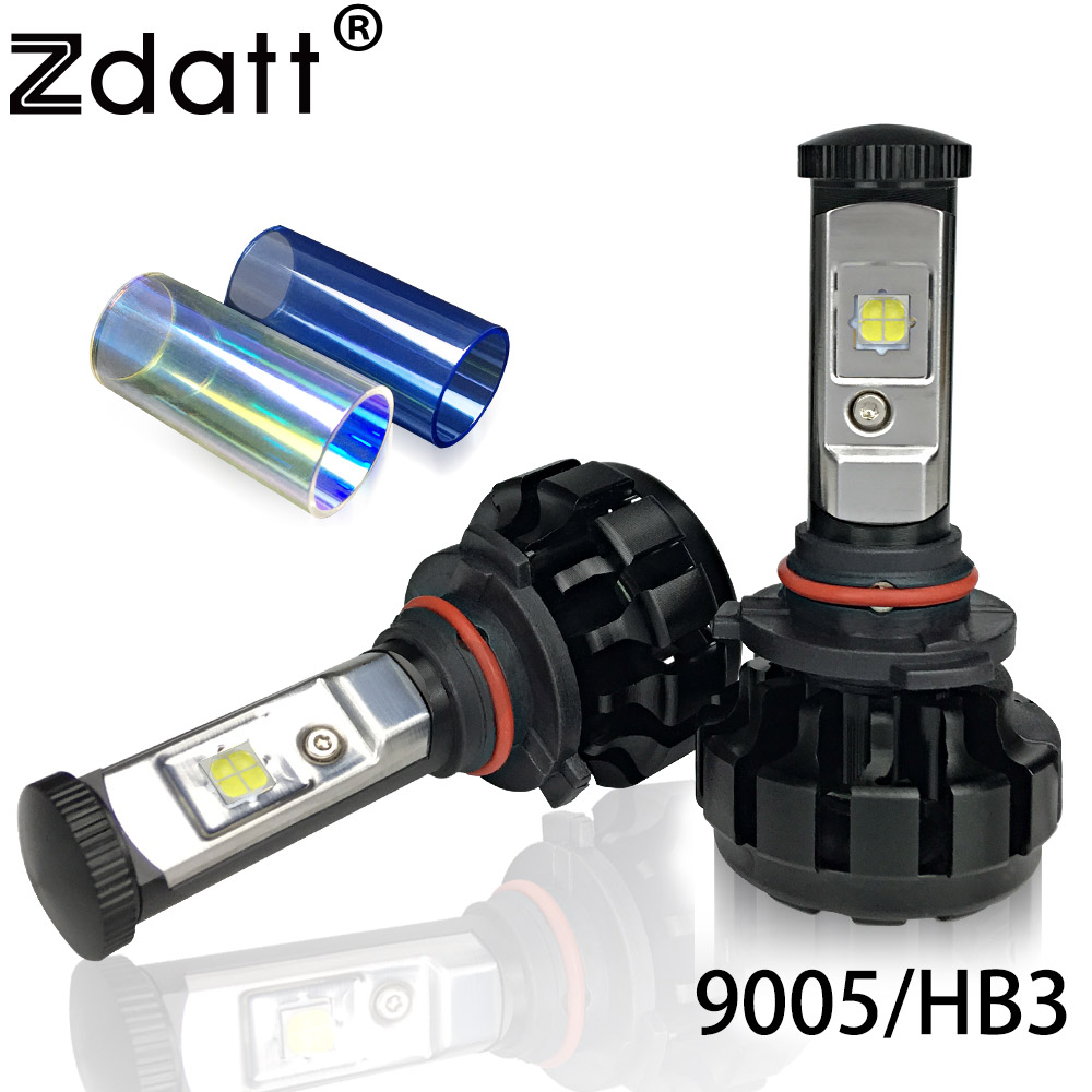 Zdatt 2Pcs Super Bright 12000LM 80W HB3 Led Bulb Car Led Headlight 9005 High Beam Canbus Conversion Kit 12V Automobiles led car turbo headlight kit canbus h7 80w 8000lm super bright replace bulb anti dazzle beam no error warning car styling