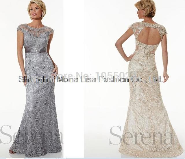 Aliexpress.com : Buy 2014 Formal New Lace Full Length Platinum ...