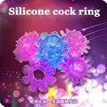 (5 pcs) produtos paixão sexo quente silicone anel peniano para homens atraso cristal solar extensor de pênis anel brinquedos sexo erótico