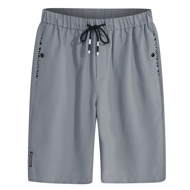 Men Shorts Thin 2020 New Summer Fashion Male Casual Shorts Drawstring Knee-length Gray Black Teenage Boy Quick Drying S01