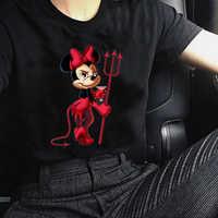 T Shirt Femme Harajuku Gothic Drucken Cartoon Sexy Minie Maus Lustige T Shirt Chemise Shein Graphic Tee Frauen Kleidung 2019 tops