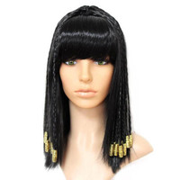black cleopatra hair decoration ancient egypt hair costume accessories halloween hair for women vintage hair queen cosplay