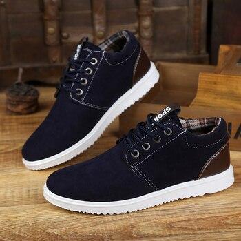 8f94314d8 Otoño zapatos de los hombres de estilo de ocio contra resbaladiza zapatos  planos para Hombre Zapatos 3 colores PA400027