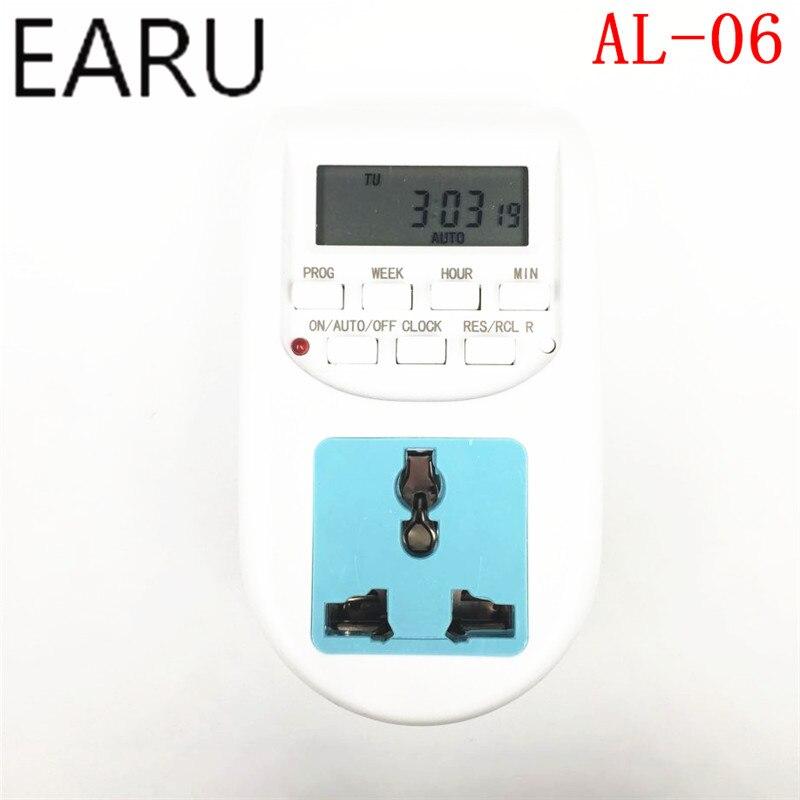 AL-06 High quality 24 Hours Timer 220V-240V 50/60Hz 2000W Digital Time Switch Timer With UK Socket and UK Plug Smart Home Plug