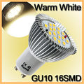 6.4W LED Light Bulb GU10 16 LED 5630 SMD Energy Saving Lamp Bulb Spotlight Spot Lights Bulbs Warm White Lighting AC 85-265V