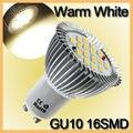 6.4W LED Light Bulb GU10 16 LED 5630 SMD Energy Saving Lamp Bulb Spotlight Spot Lights Bulbs Warm White Lighting AC 85-265V