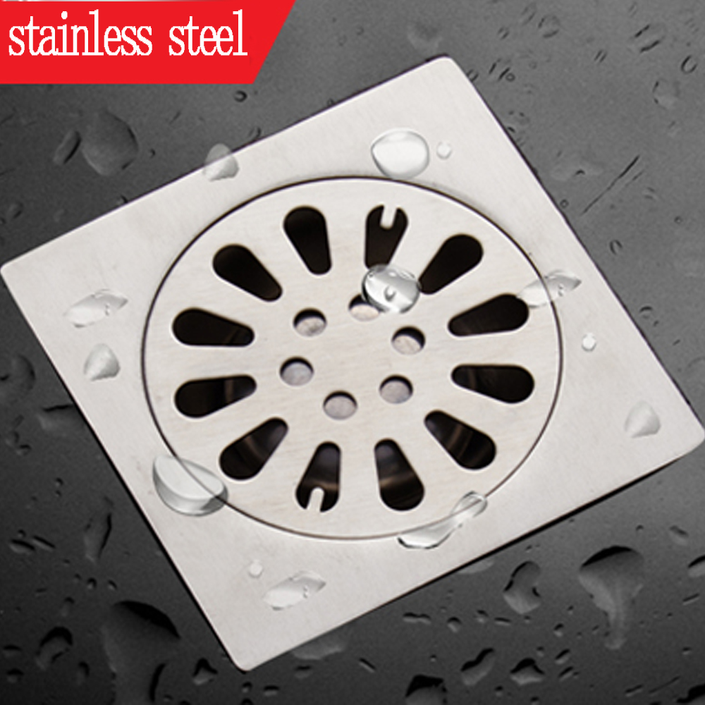 Shower Drain Thick Stainless Steel Floor Drain Ordinary Bathroom Toilet Kitchen Balcony Dedicated To prevent odor BaIDaiMoDeng
