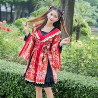 Yukata female kimonos woman 2018 Japanese kimono traditional dress obi haori Japanese cosplay clothing geisha costume DD1555