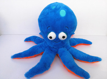 Kuscheltiere 3D Blue Eyes Octopus Cute Soft Stuffed Animal Plush Toy Doll Children Boy Girl Gift Birthday Gift 30cm