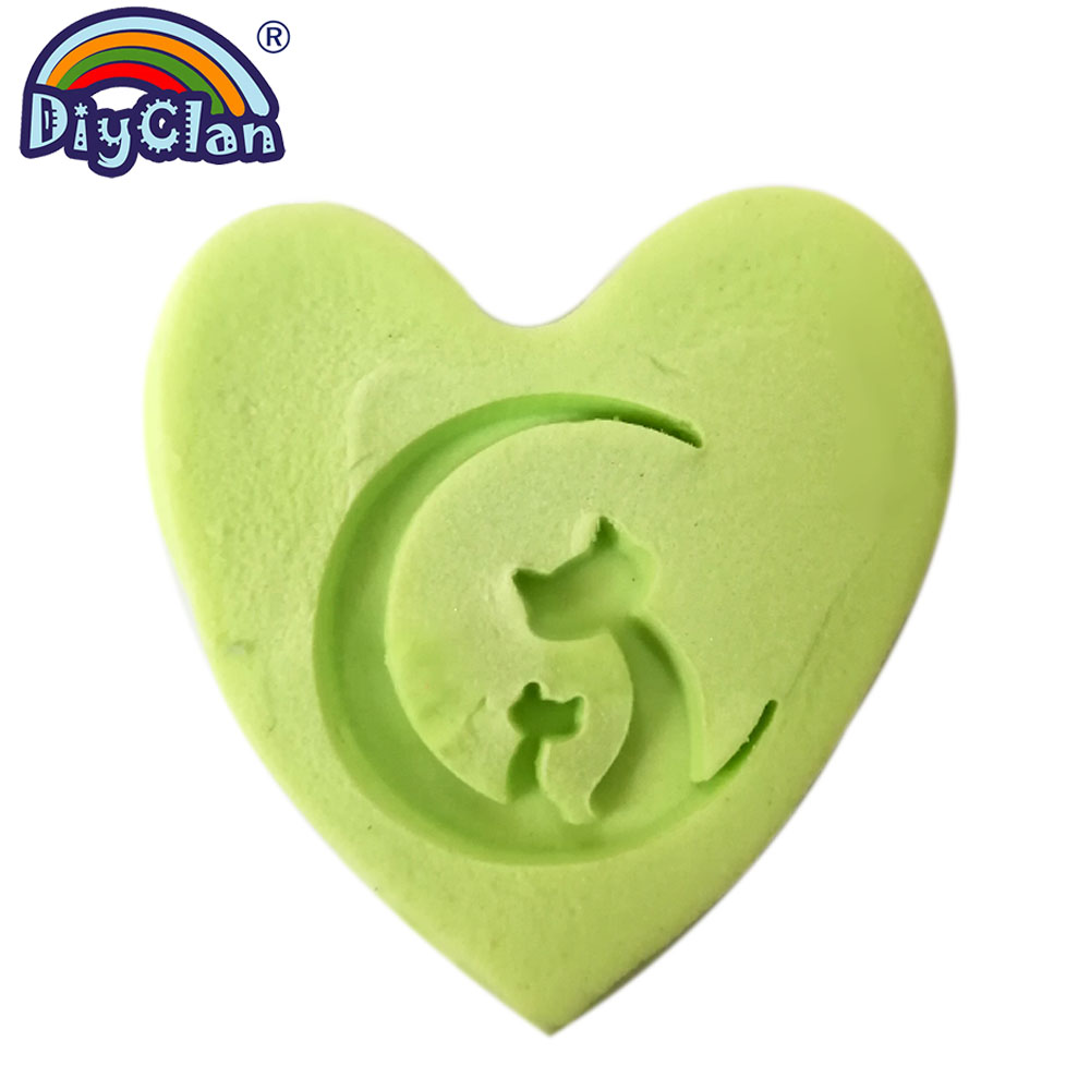 Moon Cat Handmade Soap Stamp Animal Natural Organic Stamps Transparent Soap Making Mold Acrylic Chapters Custom 3Z0301XM